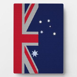 Diseño de Australia en estilo del cromo de la Placa De Madera