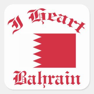 Diseño de Bahrein Pegatina Cuadrada