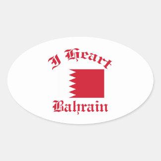 Diseño de Bahrein Pegatina Ovalada