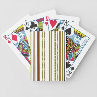 Diseño de bambú abstracto de la raya baraja de cartas
