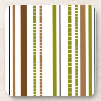 Diseño de bambú abstracto de la raya posavasos de bebidas