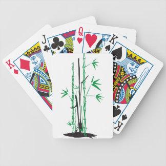 Diseño de bambú baraja cartas de poker