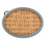 Diseño de bambú hebillas cinturón ovales