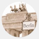 Diseño de Berlín del vintage Etiquetas