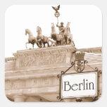 Diseño de Berlín del vintage Calcomanía Cuadradas Personalizada