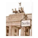 Diseño de Berlín del vintage Postales