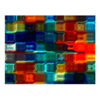 Diseño de bloque de cristal artsy de Collageable Postales
