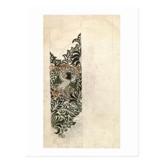 """Diseño de bloque de madera inacabado del """"pájaro y postal"""