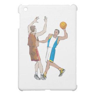diseño de bloqueo de los jugadores de básquet