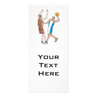diseño de bloqueo de los jugadores de básquet lona publicitaria