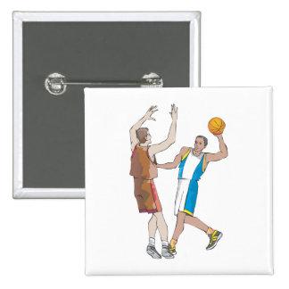 diseño de bloqueo de los jugadores de básquet pins