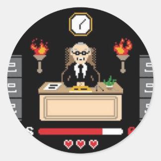 """Diseño de """"Boss"""" del pixel - GeekShirts Pegatina Redonda"""