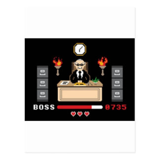"Diseño de ""Boss"" del pixel - GeekShirts Tarjeta Postal"