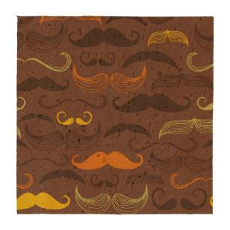 Diseño de Brown, anaranjado y amarillo del bigote Posavasos