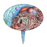 Diseño de Buble de la tortuga de mar Figuras De Tarta
