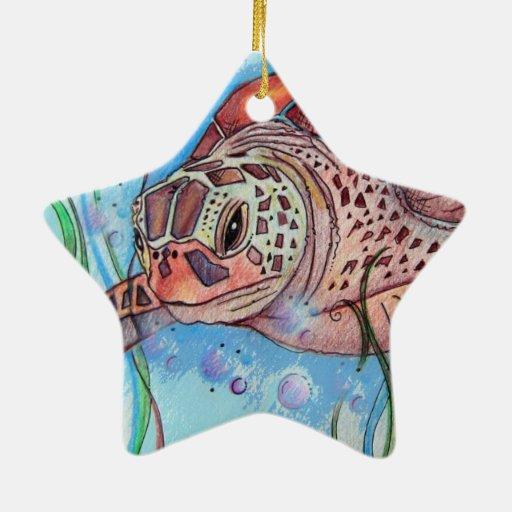 Diseño de Buble de la tortuga de mar Adorno De Reyes