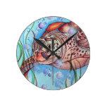 Diseño de Buble de la tortuga de mar Reloj De Pared
