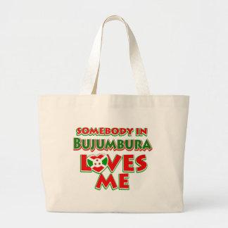 Diseño de Burundi Bolsa De Tela Grande