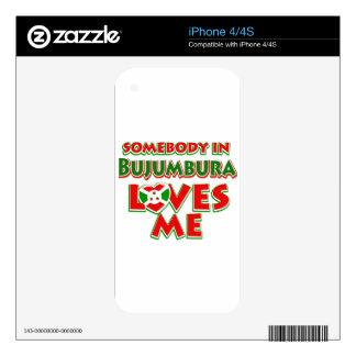 Diseño de Burundi Calcomanías Para El iPhone 4