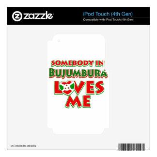 Diseño de Burundi iPod Touch 4G Calcomanía