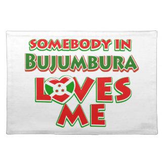 Diseño de Burundi Manteles Individuales
