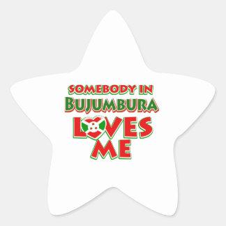 Diseño de Burundi Pegatina En Forma De Estrella