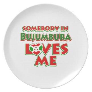 Diseño de Burundi Plato De Cena