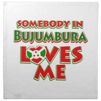 Diseño de Burundi Servilleta Imprimida