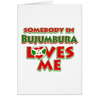 Diseño de Burundi Tarjeta De Felicitación