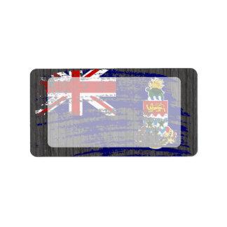 Diseño de Caimán fresco de la bandera Etiqueta De Dirección