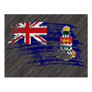 Diseño de Caimán fresco de la bandera Tarjeta Postal