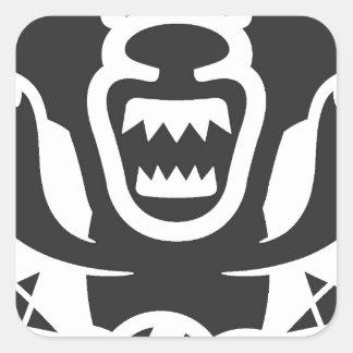 Diseño de carácter original de Thunderbear Pegatina Cuadrada