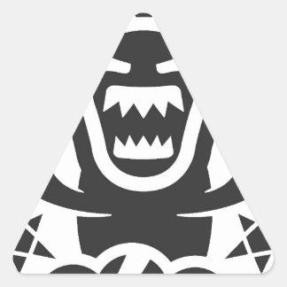 Diseño de carácter original de Thunderbear Pegatina Triangular