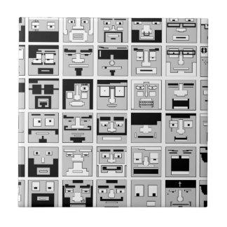 diseño de caracteres del pixel 8bit azulejo cuadrado pequeño