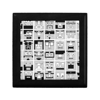 diseño de caracteres del pixel 8bit caja de regalo