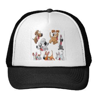 Diseño de caracteres divertido del perro gorras de camionero