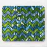 Diseño de Chevron del arte abstracto Alfombrilla De Raton