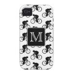 Diseño de ciclo con el monograma de encargo Case-Mate iPhone 4 fundas