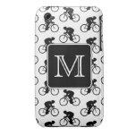 Diseño de ciclo con el monograma de encargo Case-Mate iPhone 3 funda