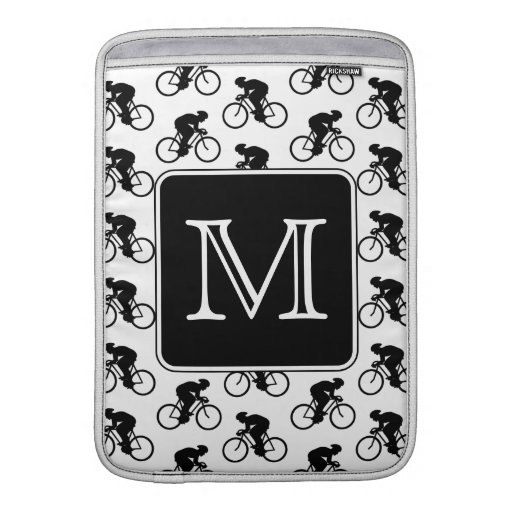 Diseño de ciclo con el monograma de encargo fundas macbook air
