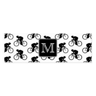Diseño de ciclo con el monograma de encargo tarjetas de visita mini
