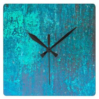 diseño de cobre del arte moderno del extracto del reloj cuadrado