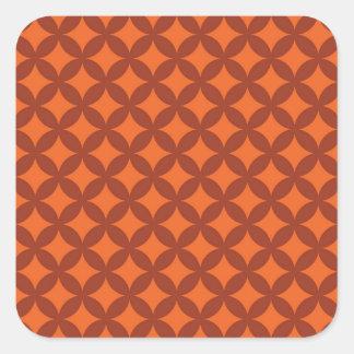 Diseño de cobre y anaranjado de Geocircle Pegatina Cuadrada