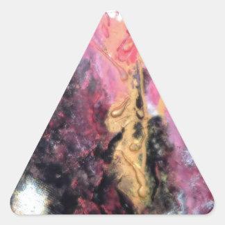 Diseño de cogida del ojo moderno de moda único pegatina triangular