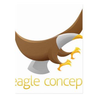 Diseño de concepto de Eagle Postales