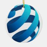 Diseño de concepto impresionante del globo ornamento para arbol de navidad