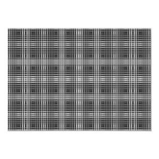 """Diseño de costura de la ilusión óptica invitación 5"""" x 7"""""""