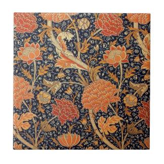 Diseño de Cray del papel pintado de William Morris Azulejo Cuadrado Pequeño