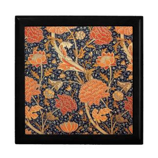 Diseño de Cray del papel pintado de William Morris Joyero Cuadrado Grande