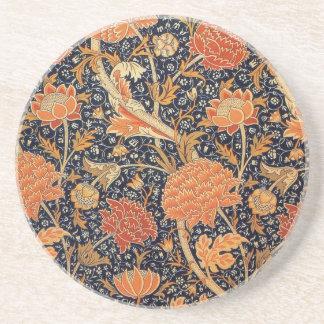 Diseño de Cray del papel pintado de William Morris Posavasos Personalizados
